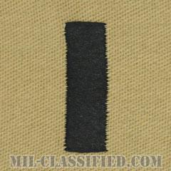 中尉(Lieutenant Junior Grade)[デザート/海軍階級章/生地テープパッチ/ペア(2枚1組)]の画像