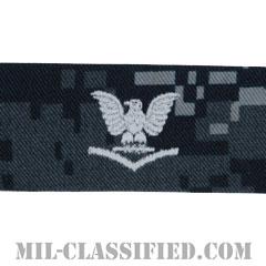 三等兵曹(Petty Officer Third Class)[NWU Type1/襟用階級章/生地テープパッチ/ペア(2枚1組)]の画像