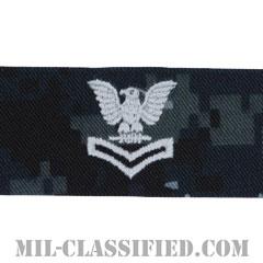 二等兵曹(Petty Officer Second Class)[NWU Type1/襟用階級章/生地テープパッチ/ペア(2枚1組)]の画像