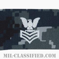 一等兵曹(Petty Officer First Class)[NWU Type1/襟用階級章/生地テープパッチ/ペア(2枚1組)]の画像