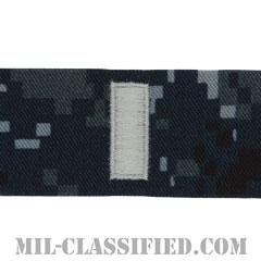 中尉(Lieutenant Junior Grade)[NWU Type1/襟用階級章/生地テープパッチ/ペア(2枚1組)]の画像