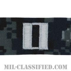 大尉(Lieutenant)[NWU Type1/襟用階級章/生地テープパッチ/ペア(2枚1組)]の画像