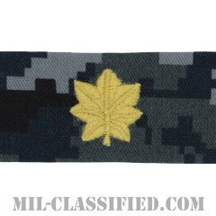 少佐(Lieutenant Commander)[NWU Type1/襟用階級章/生地テープパッチ/ペア(2枚1組)]の画像