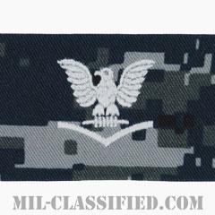 三等兵曹(Petty Officer Third Class)[NWU Type1/キャップ用階級章/生地テープパッチ]の画像