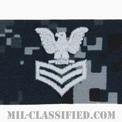 一等兵曹(Petty Officer First Class)[NWU Type1/キャップ用階級章/生地テープパッチ]の画像