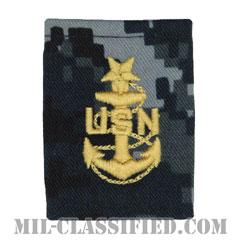 上級上等兵曹(Senior Chief Petty Officer)[NWU Type1/ゴアテックスパーカー用スライドオン階級章]の画像