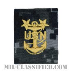 最先任上等兵曹(Master Chief Petty Officer)[NWU Type1/ゴアテックスパーカー用スライドオン階級章]の画像