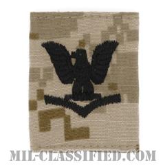 三等兵曹(Petty Officer Third Class)[NWU Type2(AOR1)/ユニフォーム・パーカー用スライドオン階級章]の画像