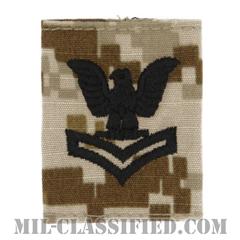 二等兵曹(Petty Officer Second Class)[NWU Type2(AOR1)/ユニフォーム・パーカー用スライドオン階級章]の画像