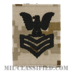 一等兵曹(Petty Officer First Class)[NWU Type2(AOR1)/ユニフォーム・パーカー用スライドオン階級章]の画像