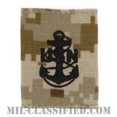上等兵曹(Chief Petty Officer)[NWU Type2(AOR1)/ユニフォーム・パーカー用スライドオン階級章]の画像