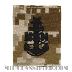 上級上等兵曹(Senior Chief Petty Officer)[NWU Type2(AOR1)/ユニフォーム・パーカー用スライドオン階級章]の画像