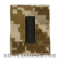 中尉(Lieutenant Junior Grade)[NWU Type2(AOR1)/ユニフォーム・パーカー用スライドオン階級章]の画像
