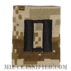 大尉(Lieutenant)[NWU Type2(AOR1)/ユニフォーム・パーカー用スライドオン階級章]の画像
