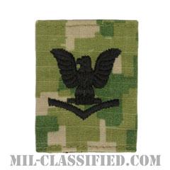 三等兵曹(Petty Officer Third Class)[NWU Type3(AOR2)/ユニフォーム・パーカー用スライドオン階級章]の画像