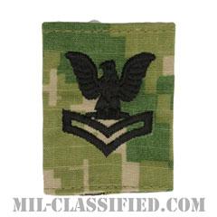 二等兵曹(Petty Officer Second Class)[NWU Type3(AOR2)/ユニフォーム・パーカー用スライドオン階級章]の画像