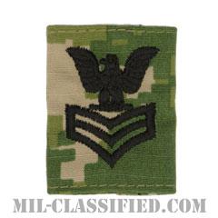 一等兵曹(Petty Officer First Class)[NWU Type3(AOR2)/ユニフォーム・パーカー用スライドオン階級章]の画像