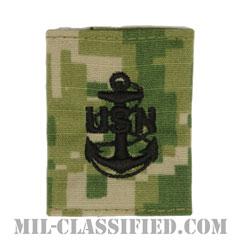 上等兵曹(Chief Petty Officer)[NWU Type3(AOR2)/ユニフォーム・パーカー用スライドオン階級章]の画像