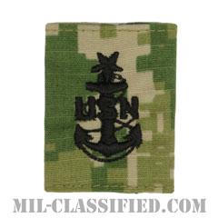 上級上等兵曹(Senior Chief Petty Officer)[NWU Type3(AOR2)/ユニフォーム・パーカー用スライドオン階級章]の画像