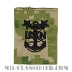 最先任上等兵曹(Master Chief Petty Officer)[NWU Type3(AOR2)/ユニフォーム・パーカー用スライドオン階級章]の画像