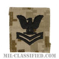 二等兵曹(Petty Officer Second Class)[NWU Type2(AOR1)/キャップ用階級章/パッチ]の画像