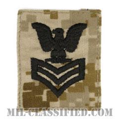 一等兵曹(Petty Officer First Class)[NWU Type2(AOR1)/キャップ用階級章/パッチ]の画像