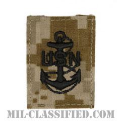 上等兵曹(Chief Petty Officer)[NWU Type2(AOR1)/キャップ用階級章/パッチ]の画像