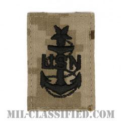 上級上等兵曹(Senior Chief Petty Officer)[NWU Type2(AOR1)/キャップ用階級章/パッチ]の画像