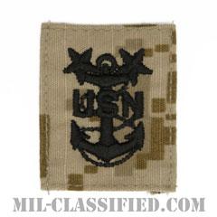 最先任上等兵曹(Master Chief Petty Officer)[NWU Type2(AOR1)/キャップ用階級章/パッチ]の画像