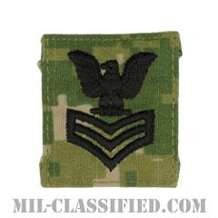 一等兵曹(Petty Officer First Class)[NWU Type3(AOR2)/キャップ用階級章/パッチ]の画像