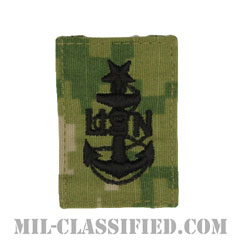 上級上等兵曹(Senior Chief Petty Officer)[NWU Type3(AOR2)/キャップ用階級章/パッチ]の画像