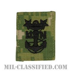 最先任上等兵曹(Master Chief Petty Officer)[NWU Type3(AOR2)/キャップ用階級章/パッチ]の画像