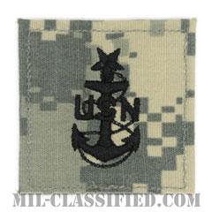 上級上等兵曹(Senior Chief Petty Officer)[UCP(ACU)/海軍階級章/ベルクロ付パッチ]の画像