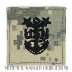 最先任上等兵曹(Master Chief Petty Officer)[UCP(ACU)/海軍階級章/ベルクロ付パッチ]の画像