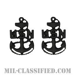 上等兵曹(Chief Petty Officer)[サブデュード(ブラックメタル)/海軍階級章/バッジ/ペア(2個1組)]の画像