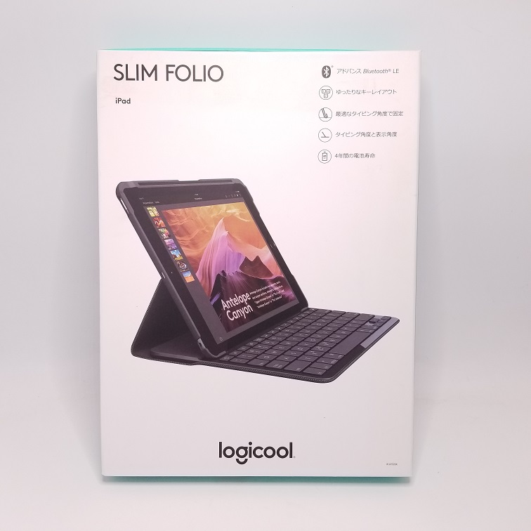 LOGICOOL SLIM FOLIO iPad2017用キーボードカバー画像