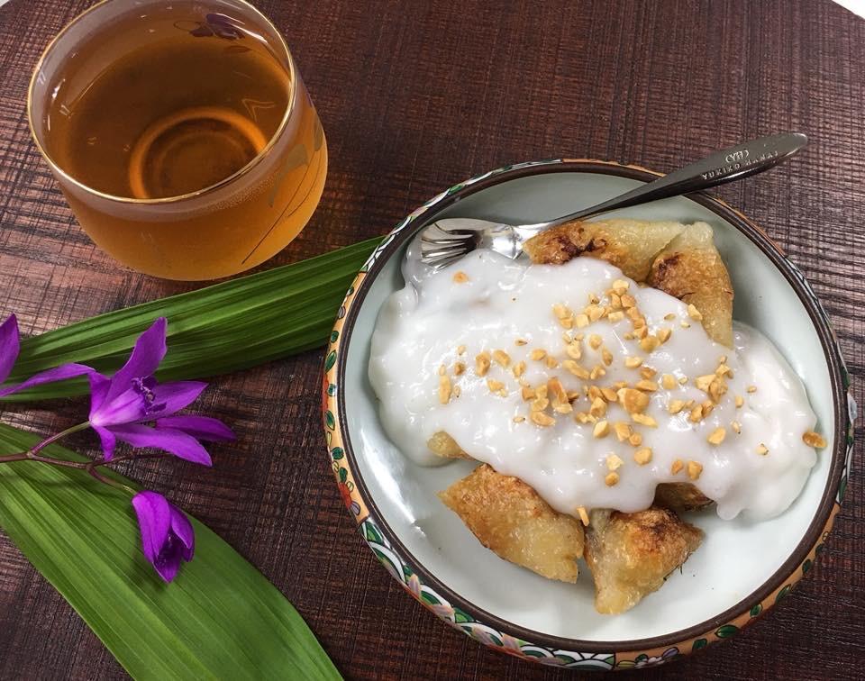 Chuối Nếp Nướng Nước Cốt Dừa(チュイ ネップ ヌゥン  ヌック コック ユァ) 5個入りココナッツース付きの画像