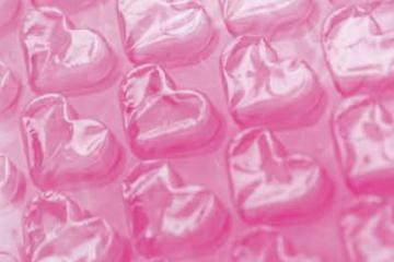 【1m単位で切売】ハートプチプチ はあとのかわいいぷちぷち はぁとぷち 手芸材 包装資材 ラッピング ギフト フラワー 食器棚シート メルカリ梱包画像