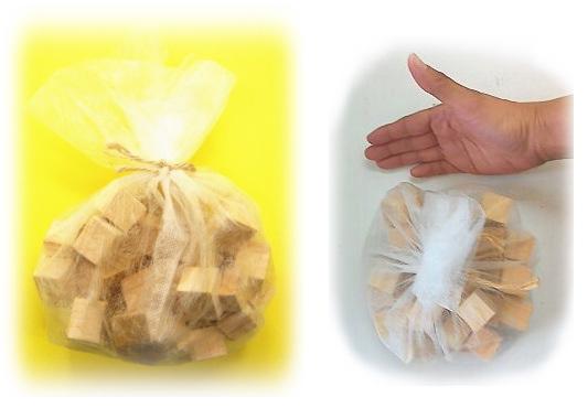 ヒノキ1袋の大きさ