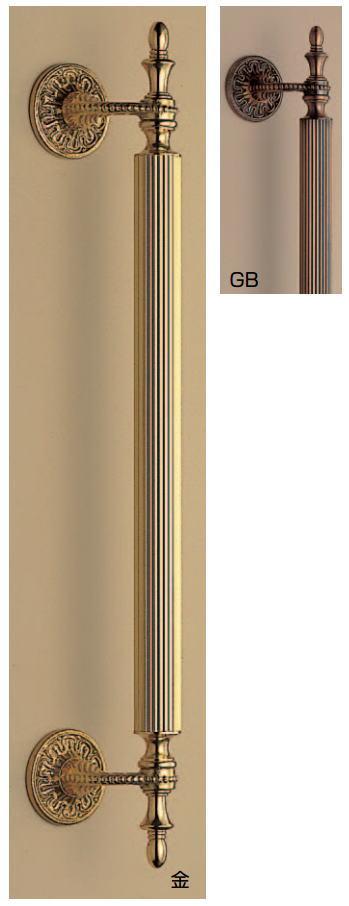 セビリア取手(両面用)アンティーク風真鍮バーハンドル No.54 標準扉厚:31~41mm画像
