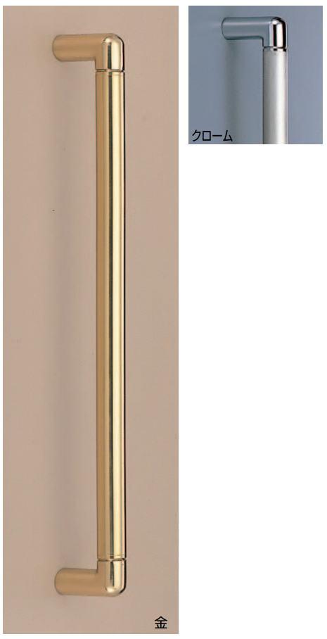 ルグラン取手(両面用) φ22 ステンレス・真鍮バーハンドル No.112 標準扉厚:28~46mm画像