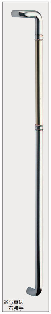 片L形丸棒取手(両面用)真鍮ロングバーハンドル No.201L(左)No.201R(右)全長1200mm 標準扉厚:10~48mm画像