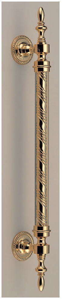 ベルサイユ取手(両面用)アンティークハンドル アクリル+真鍮(純金)No.317 全長600mm 標準扉厚:23~41mm画像