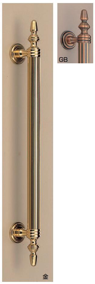 バレンシア取手(両面用)アンティークハンドル 真鍮 No.96 標準扉厚:26~42mm画像