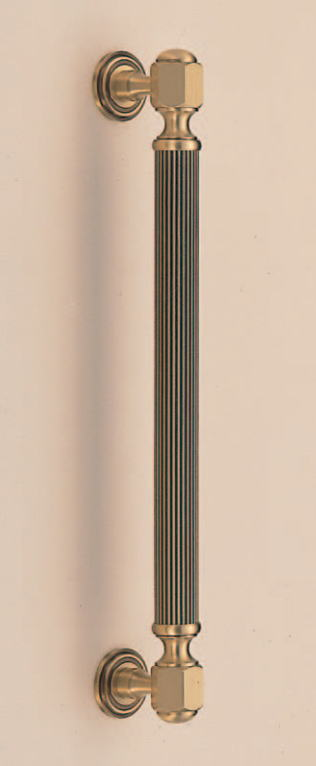 バイロン取手(両面用)アンティークハンドル 真鍮 No.44 標準扉厚:23~41mm φ30画像