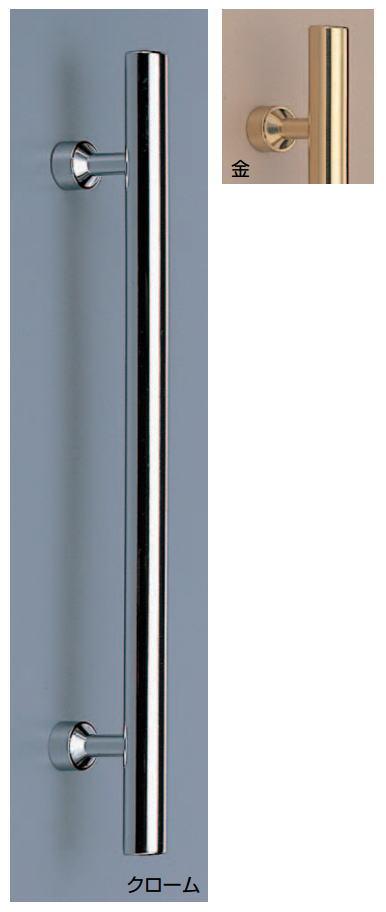 丸型取手(両面用)シンプル真鍮ハンドル No.114 標準扉厚:20~45mm φ20画像