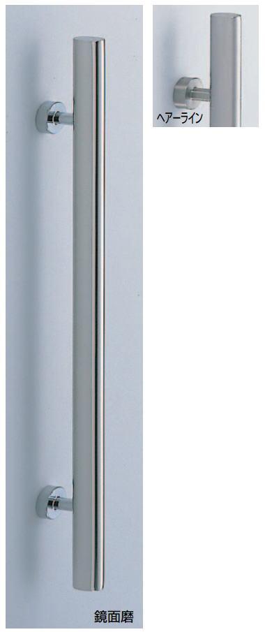 ステンレス楕円取手(両面用)ステンレス+真鍮ハンドル No.49 標準扉厚:27~41mm画像