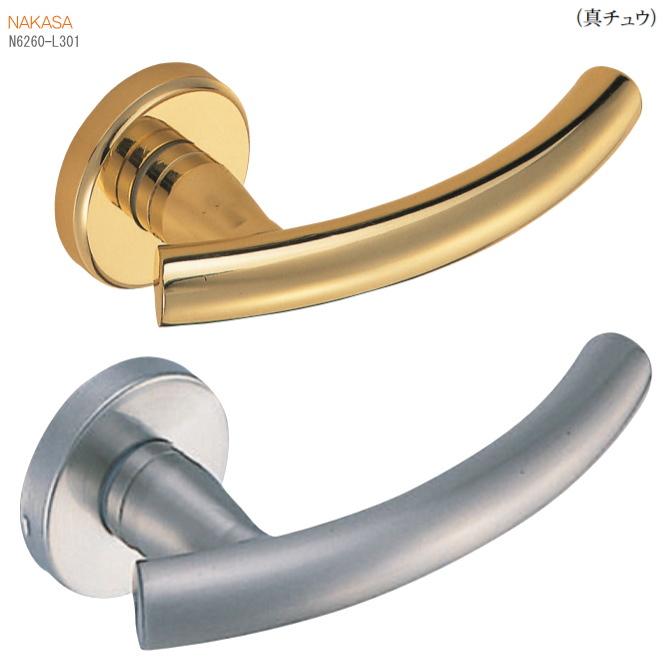 和風レバーハンドル(真鍮)丸座 ドアレバー 空錠・表示錠・間仕切錠画像