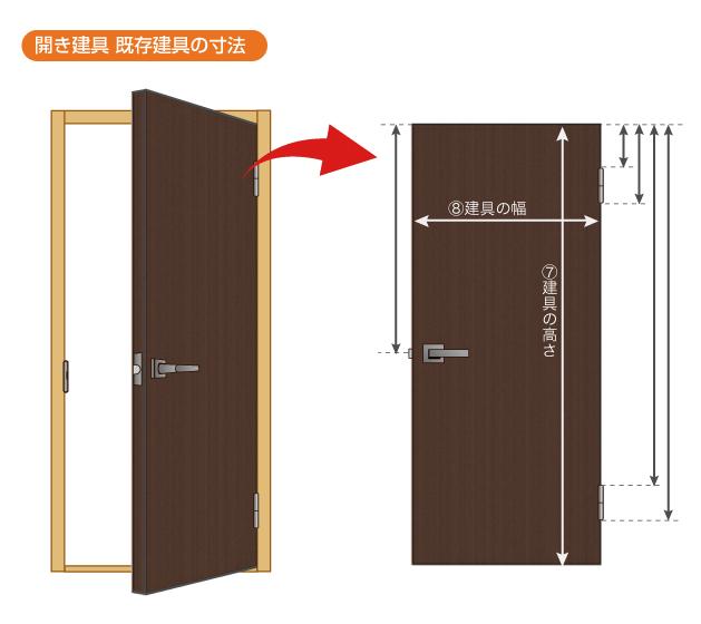 開き戸寸法2