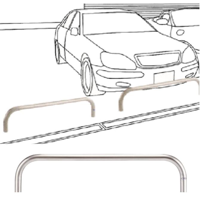 自動車乗り上げ防止用タイプ 帝金横型バリカー【Teikin・BARICAR】画像